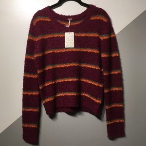 Free People S Curly Teddy Sweater Soft Thick